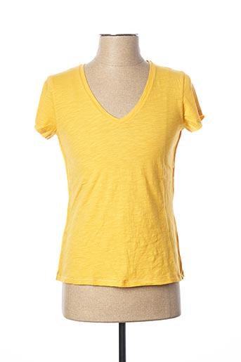 T-shirt manches courtes jaune KANOPE pour femme
