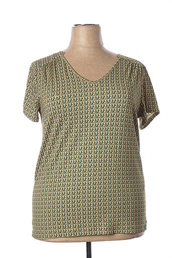 T-shirt manches courtes vert MAE MAHE pour femme