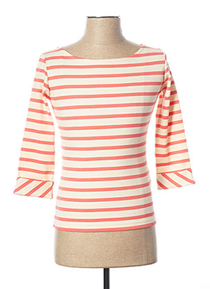 Pull col rond beige DEAUVILLE pour femme