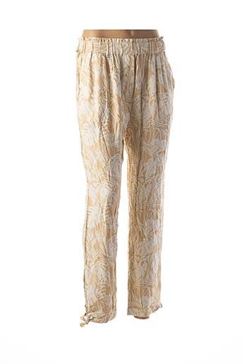 Pantalon 7/8 beige MY SUNDAY MORNING pour femme