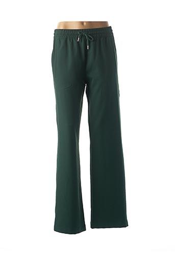 Pantalon casual vert ESSENTIEL pour femme