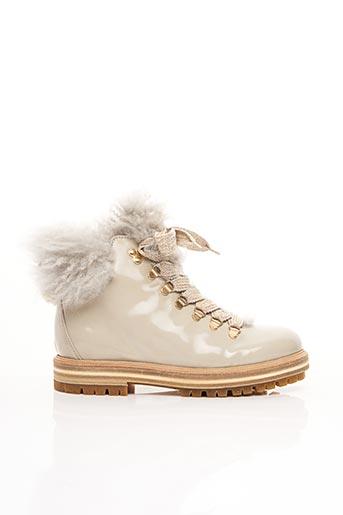 Bottines/Boots beige ATTILIO GIUSTI LEOMBRUNI pour femme