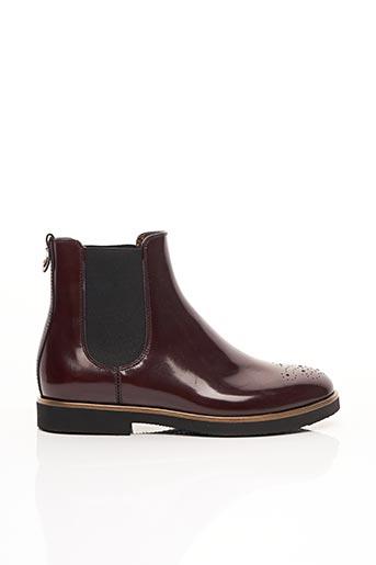 Bottines/Boots rouge ATTILIO GIUSTI LEOMBRUNI pour femme