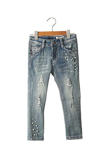Jeans coupe slim bleu PAPILLON pour fille