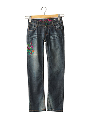 Jeans coupe droite bleu CATIMINI pour fille