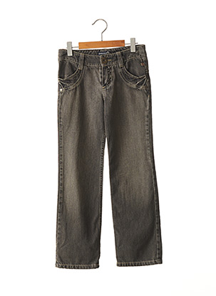 Jeans coupe droite noir JEAN BOURGET pour fille