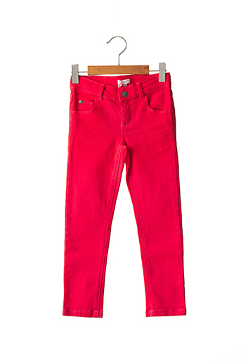 Jeans coupe slim rouge ABSORBA pour fille