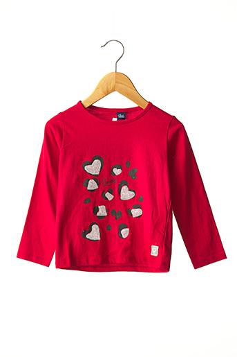 T-shirt manches longues rouge STREET MONKEY pour fille