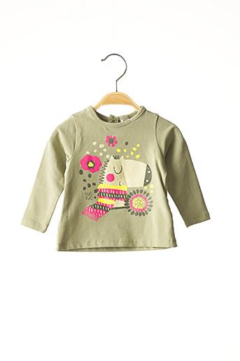 T-shirt manches longues vert TUC TUC pour fille