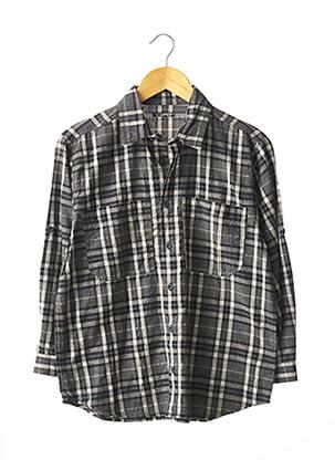 Chemise manches longues gris GPB pour garçon