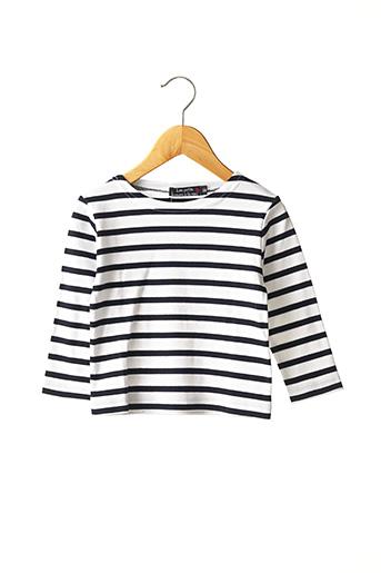 T-shirt manches longues blanc LES PETITS COEURS À LA MER pour garçon