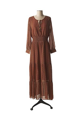 Robe longue marron LA PETITE ETOILE pour femme