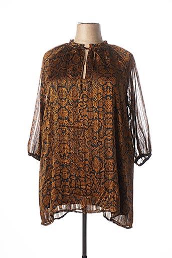 Robe courte marron RUE DES ABBESSES pour femme