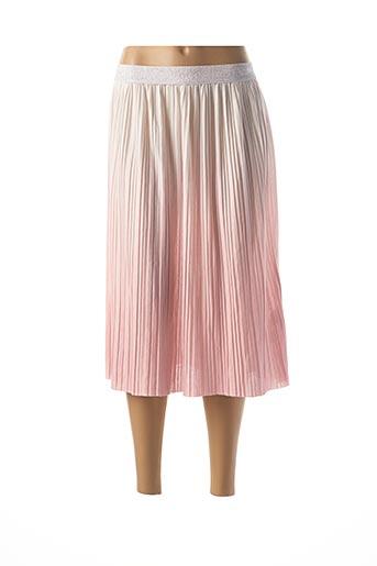 Jupe mi-longue rose ONLY pour femme