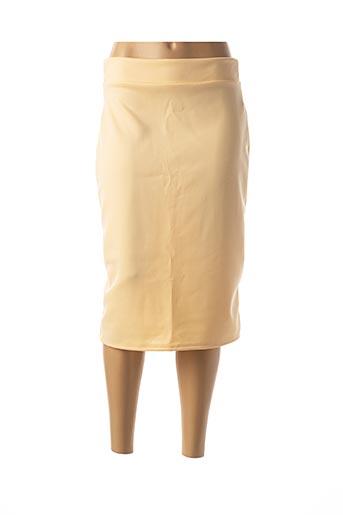 Jupe mi-longue beige BELSIRA pour femme