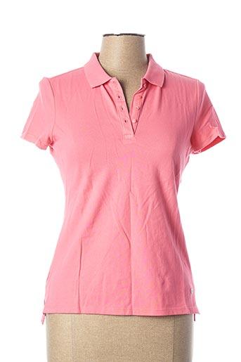 Polo manches courtes rose ESPRIT pour femme
