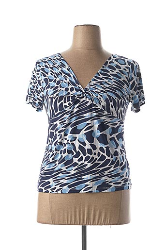 T-shirt manches courtes bleu BELLISSIMA pour femme