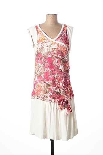 Robe mi-longue rose BAI AMOUR pour femme