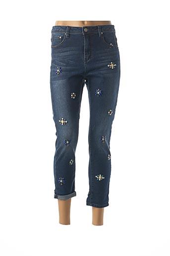 Jeans coupe slim bleu FRANK LYMAN pour femme