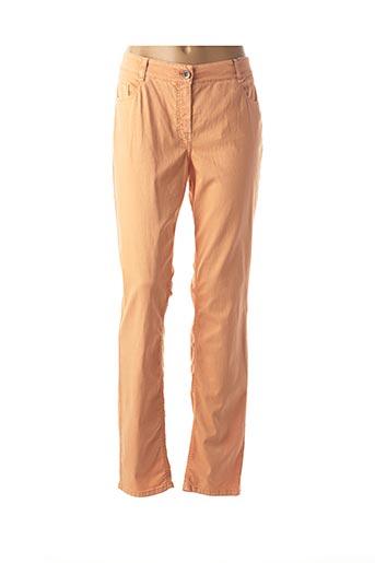 Pantalon casual orange ATELIER GARDEUR pour femme