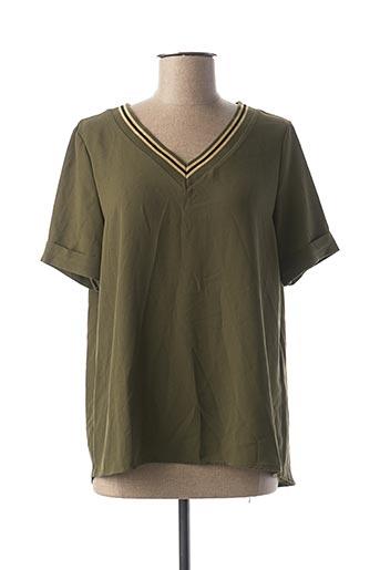 Blouse manches courtes vert ADONICE pour femme
