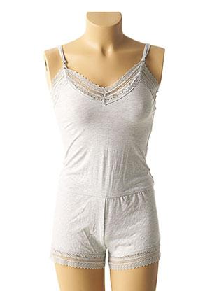 Pyjashort gris ESTHER QUEEN pour femme