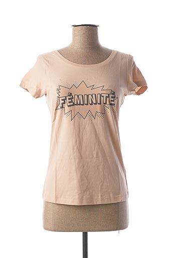 T-shirt manches courtes beige FILLANDISES pour femme