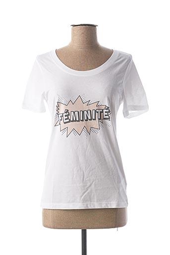 T-shirt manches courtes blanc FILLANDISES pour femme