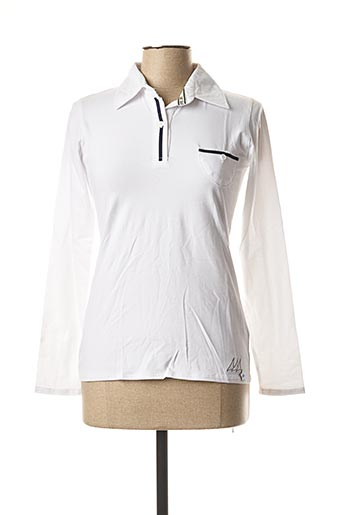 Polo manches longues blanc ERIC TABARLY pour femme