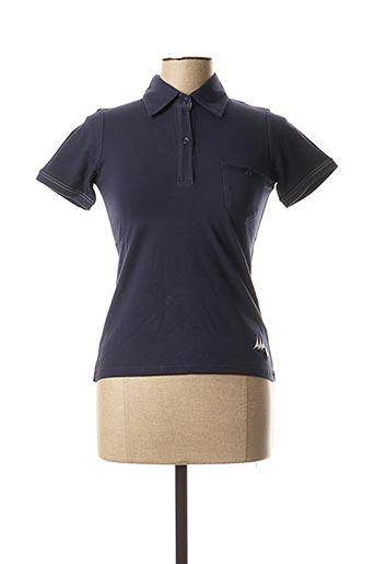 Polo sans manche bleu ERIC TABARLY pour femme
