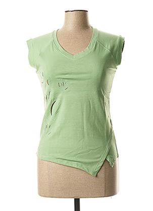 Top vert CLOUD'S pour femme