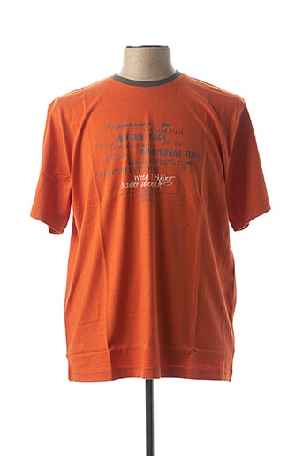 T-shirt manches courtes orange CLOUD'S pour homme