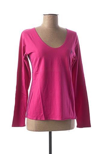 T-shirt manches longues rose COMPTOIR DU RUGBY pour femme