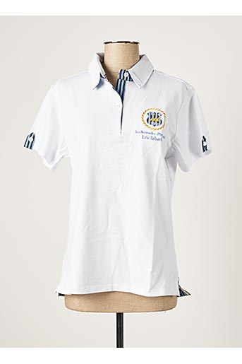 Polo manches courtes blanc ERIC TABARLY pour homme
