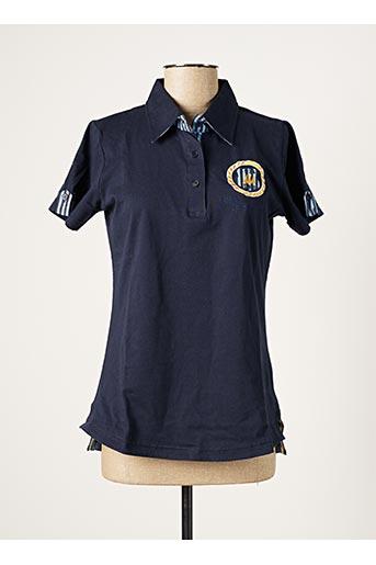Polo manches courtes bleu ERIC TABARLY pour homme