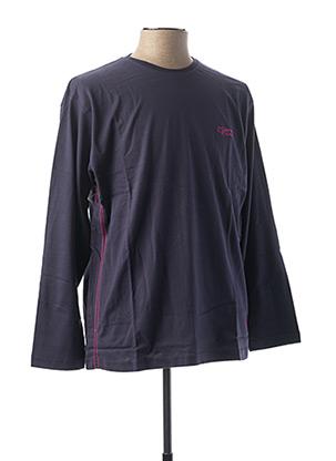 T-shirt manches longues bleu COMPTOIR DU RUGBY pour homme