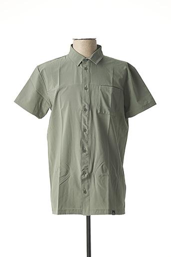 Chemise manches courtes vert EIDER pour homme