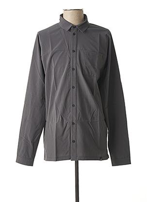 Chemise manches longues gris EIDER pour homme