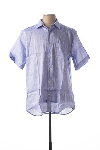 Chemise manches courtes violet BELLONI pour homme