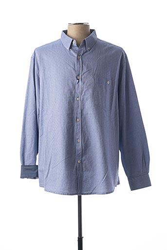 Chemise manches longues bleu EASY pour homme