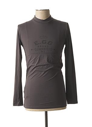 T-shirt manches longues gris HOM pour homme