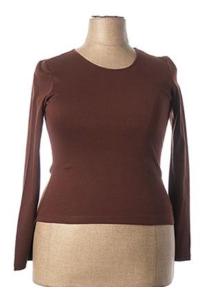 T-shirt manches longues marron EPICEA pour femme