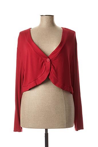 Gilet manches longues rouge CLIN D'OEIL pour femme