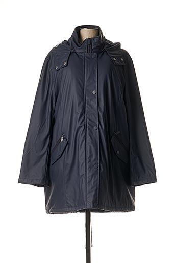 Manteau long bleu ELYNE pour femme