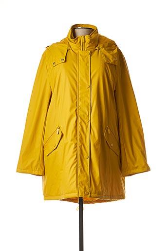 Manteau long jaune ELYNE pour femme