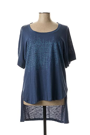 Tunique manches courtes bleu MAT. pour femme