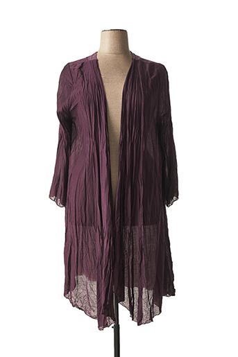 Gilet manches longues violet EDMOND BOUBLIL pour femme