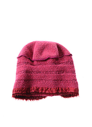 Bonnet rose GANTEB'S pour femme