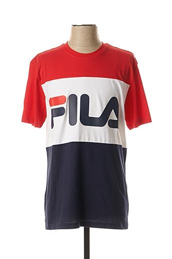 T-shirt manches courtes rouge FIL A pour homme