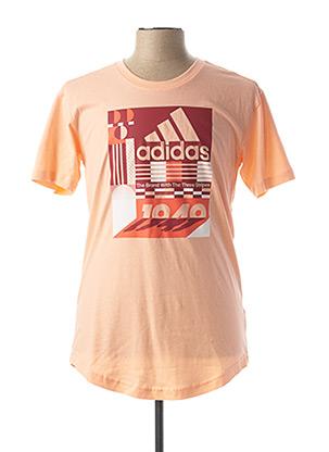 T-shirt manches courtes orange ADIDAS pour femme